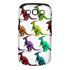 Multicolor Dinosaur Background Samsung Galaxy S Iii Classic Hardshell Case (pc+silicone)