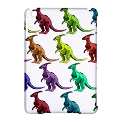 Multicolor Dinosaur Background Apple Ipad Mini Hardshell Case (compatible With Smart Cover)