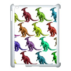 Multicolor Dinosaur Background Apple iPad 3/4 Case (White)