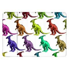 Multicolor Dinosaur Background Samsung Galaxy Tab 8 9  P7300 Flip Case