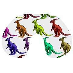 Multicolor Dinosaur Background Travel Neck Pillows