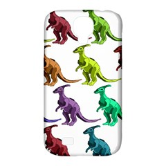Multicolor Dinosaur Background Samsung Galaxy S4 Classic Hardshell Case (pc+silicone)