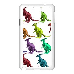 Multicolor Dinosaur Background Samsung Galaxy Note 3 N9005 Case (white)