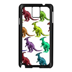 Multicolor Dinosaur Background Samsung Galaxy Note 3 N9005 Case (black)
