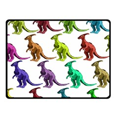 Multicolor Dinosaur Background Double Sided Fleece Blanket (Small)