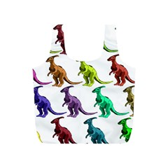 Multicolor Dinosaur Background Full Print Recycle Bags (S)