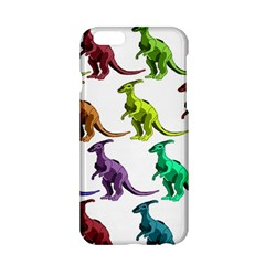 Multicolor Dinosaur Background Apple Iphone 6/6s Hardshell Case