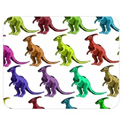 Multicolor Dinosaur Background Double Sided Flano Blanket (medium)