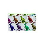 Multicolor Dinosaur Background Cosmetic Bag (XS) Back
