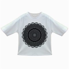 Black Lace Kaleidoscope On White Infant/toddler T Shirts