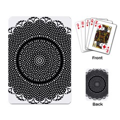 Black Lace Kaleidoscope On White Playing Card