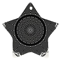 Black Lace Kaleidoscope On White Star Ornament (two Sides)