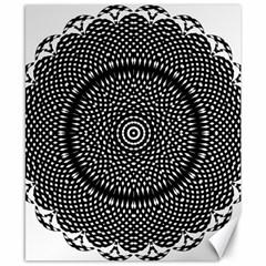 Black Lace Kaleidoscope On White Canvas 8  x 10