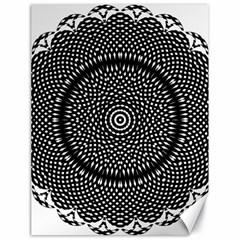 Black Lace Kaleidoscope On White Canvas 18  X 24