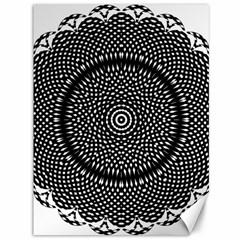 Black Lace Kaleidoscope On White Canvas 36  X 48