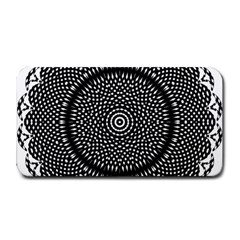 Black Lace Kaleidoscope On White Medium Bar Mats