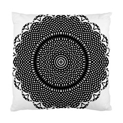 Black Lace Kaleidoscope On White Standard Cushion Case (two Sides)