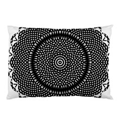 Black Lace Kaleidoscope On White Pillow Case