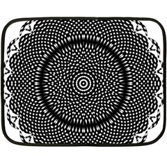Black Lace Kaleidoscope On White Fleece Blanket (mini)
