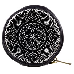 Black Lace Kaleidoscope On White Mini Makeup Bags