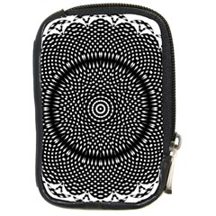 Black Lace Kaleidoscope On White Compact Camera Cases