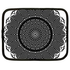 Black Lace Kaleidoscope On White Netbook Case (xxl)