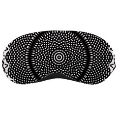Black Lace Kaleidoscope On White Sleeping Masks