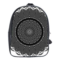 Black Lace Kaleidoscope On White School Bags(large)
