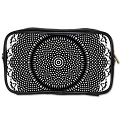 Black Lace Kaleidoscope On White Toiletries Bags 2 Side
