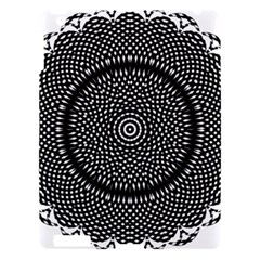 Black Lace Kaleidoscope On White Apple Ipad 3/4 Hardshell Case