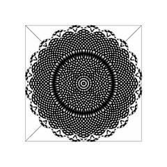 Black Lace Kaleidoscope On White Acrylic Tangram Puzzle (4  X 4 )