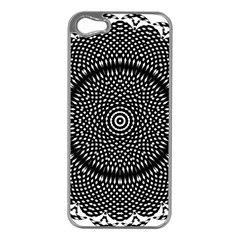 Black Lace Kaleidoscope On White Apple Iphone 5 Case (silver)