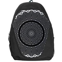 Black Lace Kaleidoscope On White Backpack Bag