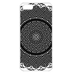 Black Lace Kaleidoscope On White Apple Iphone 5 Seamless Case (white)