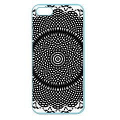 Black Lace Kaleidoscope On White Apple Seamless iPhone 5 Case (Color)
