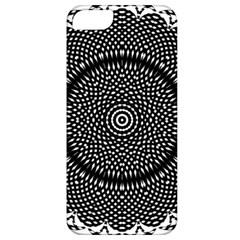 Black Lace Kaleidoscope On White Apple iPhone 5 Classic Hardshell Case