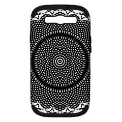 Black Lace Kaleidoscope On White Samsung Galaxy S Iii Hardshell Case (pc+silicone)