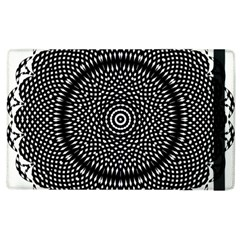 Black Lace Kaleidoscope On White Apple Ipad 2 Flip Case