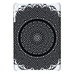 Black Lace Kaleidoscope On White Apple Ipad Mini Hardshell Case
