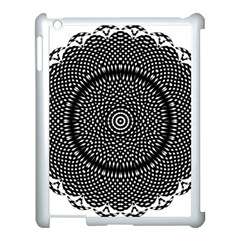 Black Lace Kaleidoscope On White Apple Ipad 3/4 Case (white)