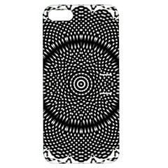 Black Lace Kaleidoscope On White Apple iPhone 5 Hardshell Case with Stand