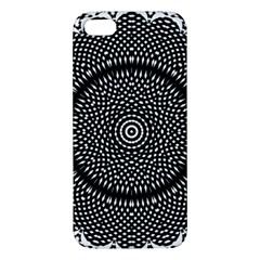 Black Lace Kaleidoscope On White Apple Iphone 5 Premium Hardshell Case