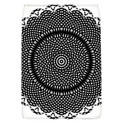 Black Lace Kaleidoscope On White Flap Covers (l)