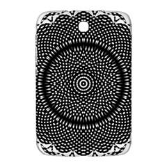 Black Lace Kaleidoscope On White Samsung Galaxy Note 8 0 N5100 Hardshell Case