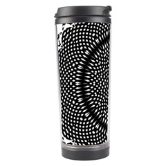 Black Lace Kaleidoscope On White Travel Tumbler