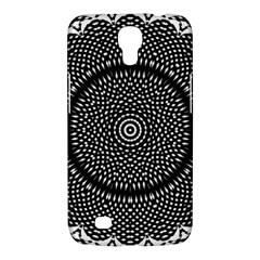 Black Lace Kaleidoscope On White Samsung Galaxy Mega 6 3  I9200 Hardshell Case