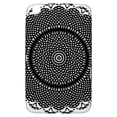 Black Lace Kaleidoscope On White Samsung Galaxy Tab 3 (8 ) T3100 Hardshell Case