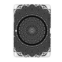 Black Lace Kaleidoscope On White Samsung Galaxy Tab 2 (10.1 ) P5100 Hardshell Case