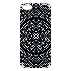 Black Lace Kaleidoscope On White Iphone 5s/ Se Premium Hardshell Case