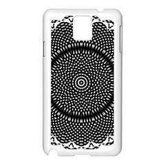 Black Lace Kaleidoscope On White Samsung Galaxy Note 3 N9005 Case (White)